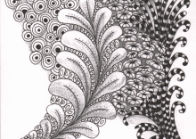 Dotted Leaves Zentangle