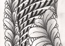 Baby Leaves Zentangle