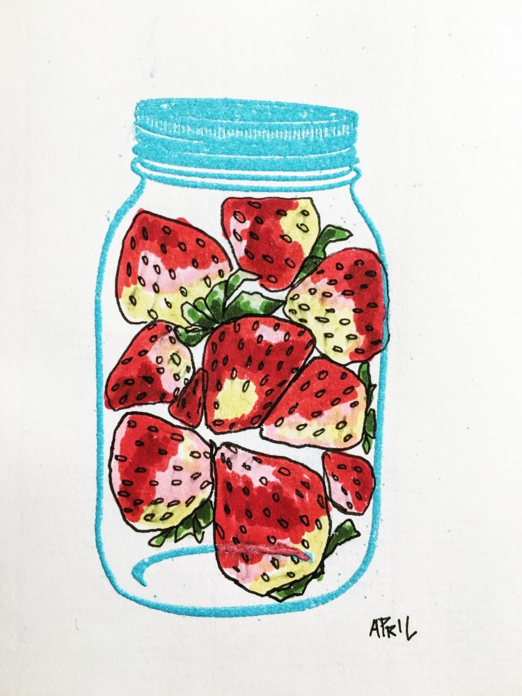 Day 2 Strawberries in a Jar