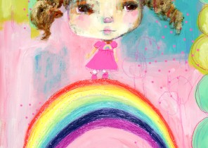 Girl on a rainbow